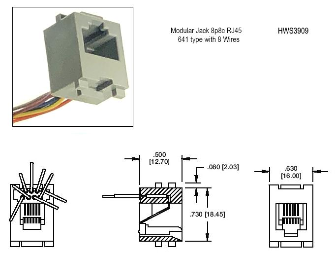 telephone modular jack wiring diagram modular jack 8p8c with 8 wires: phoenix enterprises -pe ...