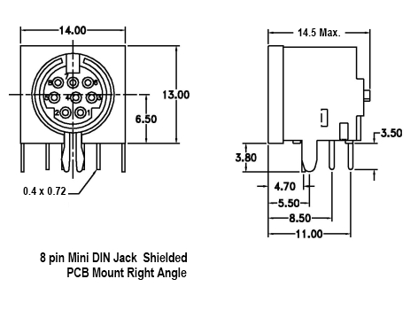8 pin mini din wiring diagram 8 pin mini din jack r a phoenix enterprises pe connectors ic  8 pin mini din jack r a phoenix
