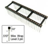48 pin Wire Wrap DIP IC Socket .6""