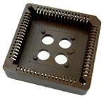 68 pin PLCC IC Socket Thru Hole